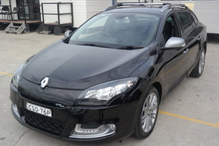2013 Renault Megane III K95 MY13 GT-Line Sportwagon Black 6 Speed Constant Variable Wagon