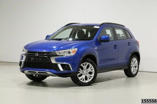 2019 Mitsubishi ASX XC MY19 ES (2WD) Blue Continuous Variable Wagon.