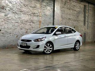 2018 Hyundai Accent RB6 MY18 Sport White 6 Speed Sports Automatic Sedan.