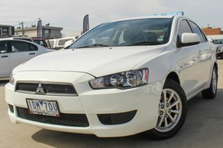 2011 Mitsubishi Lancer CJ MY11 SX White 6 Speed Constant Variable Sedan.