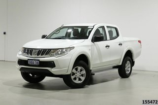 2015 Mitsubishi Triton MQ MY16 GLX (4x4) White 6 Speed Manual Dual Cab Utility.