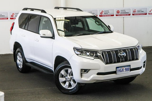 Pre-Owned Toyota Landcruiser Prado GDJ150R GXL Myaree, 2019 Toyota Landcruiser Prado GDJ150R GXL Glacier White 6 Speed Sports Automatic Wagon