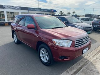 2010 Toyota Kluger GSU40R KX-R Red Sports Automatic SUV
