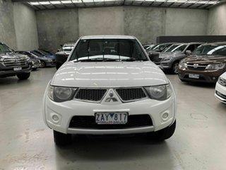 2012 Mitsubishi Triton MN MY12 GL-R Double Cab White 5 Speed Manual Utility.