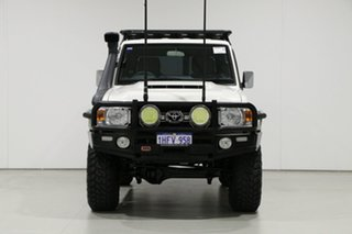 2019 Toyota Landcruiser VDJ76R GXL (4x4) White 5 Speed Manual Wagon.