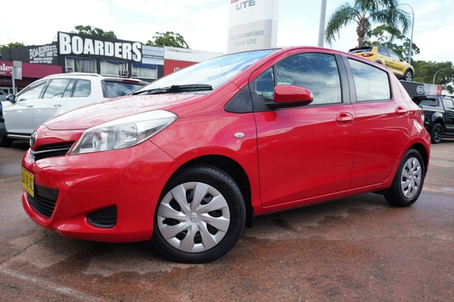 Used Toyota Yaris NCP131R YRS Brookvale, 2013 Toyota Yaris NCP131R YRS Red 4 Speed Automatic Hatchback