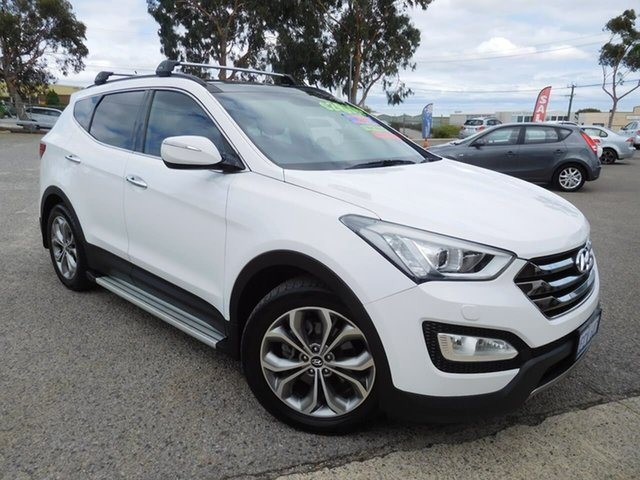 Used Hyundai Santa Fe DM MY13 Highlander Wangara, 2013 Hyundai Santa Fe DM MY13 Highlander White 6 Speed Sports Automatic Wagon
