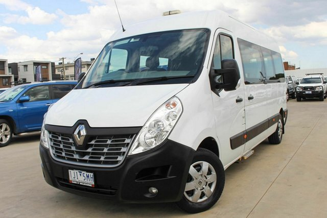 Used Renault Master X62 Mid Roof LWB AMT Coburg North, 2017 Renault Master X62 Mid Roof LWB AMT White 6 Speed Sports Automatic Single Clutch Bus