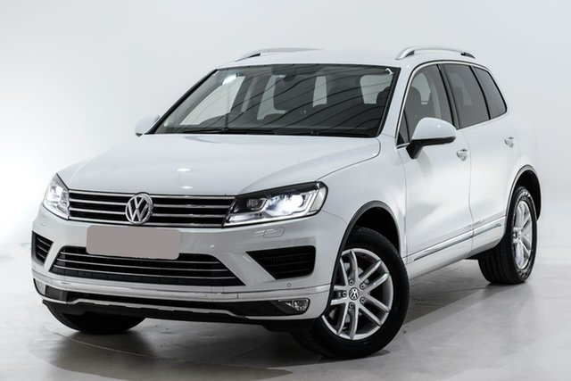 Used Volkswagen Touareg 7P MY16 150TDI Tiptronic 4MOTION Element Berwick, 2016 Volkswagen Touareg 7P MY16 150TDI Tiptronic 4MOTION Element White 8 Speed Sports Automatic