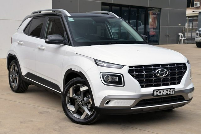 Used Hyundai Venue QX MY20 Elite Tuggerah, 2019 Hyundai Venue QX MY20 Elite White 6 Speed Automatic Wagon
