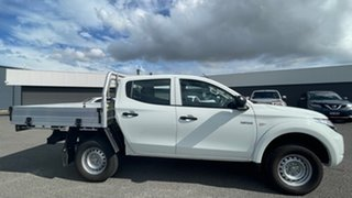 2018 Mitsubishi Triton MQ MY18 GLX Double Cab White Solid 5 Speed Sports Automatic Cab Chassis.
