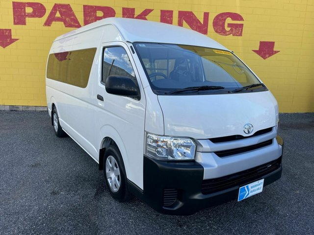 Used Toyota HiAce KDH223R Commuter High Roof Super LWB Winnellie, 2015 Toyota HiAce KDH223R Commuter High Roof Super LWB White 4 Speed Automatic Bus