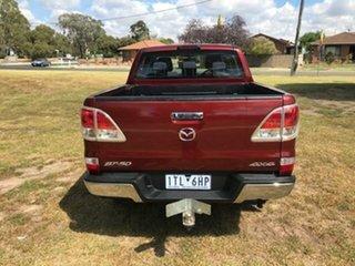 2012 Mazda BT-50 XTR (4x4) Red 6 Speed Manual Dual Cab Utility