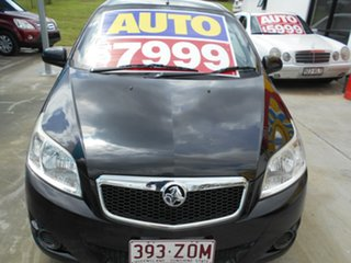2011 Holden Barina TK MY11 Black 4 Speed Automatic Hatchback.