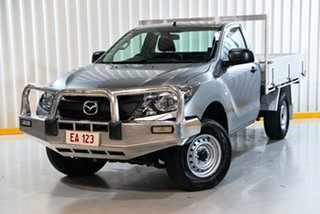 2017 Mazda BT-50 MY16 XT (4x4) Silver 6 Speed Manual Cab Chassis.
