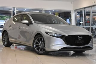 2021 Mazda 3 BP2H7A G20 SKYACTIV-Drive Evolve Silver 6 Speed Sports Automatic Hatchback.