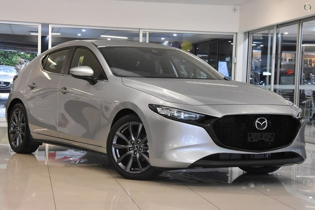 New Mazda 3 BP2H7A G20 SKYACTIV-Drive Evolve Waitara, 2021 Mazda 3 BP2H7A G20 SKYACTIV-Drive Evolve Silver 6 Speed Sports Automatic Hatchback