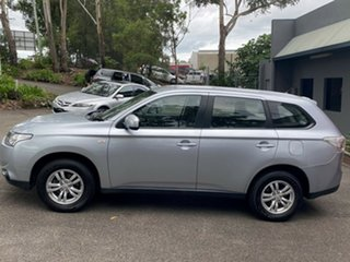 2012 Mitsubishi Outlander ZJ MY13 ES 4WD Metallic Silver 6 Speed Constant Variable Wagon
