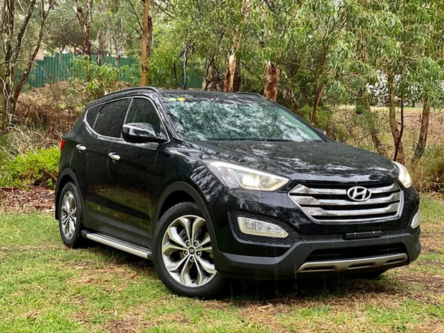 Used Hyundai Santa Fe DM MY13 Highlander Reynella, 2013 Hyundai Santa Fe DM MY13 Highlander Phantom Black 6 Speed Sports Automatic Wagon