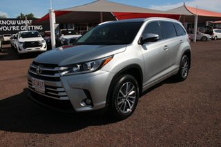2017 Toyota Kluger GSU55R GXL AWD Silver 8 Speed Sports Automatic Wagon.