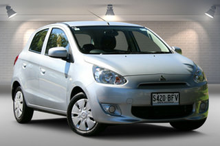 2013 Mitsubishi Mirage LA MY14 ES Silver 1 Speed Constant Variable Hatchback.