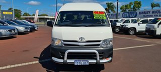 2011 Toyota HiAce KDH223R MY11 Commuter High Roof Super LWB White 5 Speed Manual Bus.