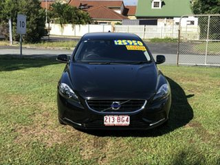 2015 Volvo V40 M Series MY15 T4 Adap Geartronic Luxury Black 6 Speed Sports Automatic Hatchback