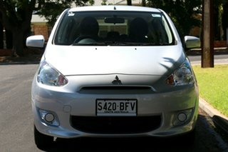 2013 Mitsubishi Mirage LA MY14 ES Silver 1 Speed Constant Variable Hatchback