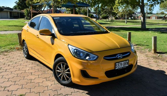 Used Hyundai Accent RB5 MY17 Sport Ingle Farm, 2017 Hyundai Accent RB5 MY17 Sport Sunflower 6 Speed Manual Sedan