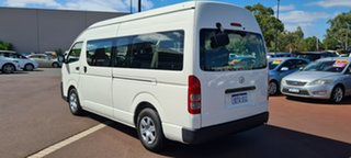 2011 Toyota HiAce KDH223R MY11 Commuter High Roof Super LWB White 5 Speed Manual Bus