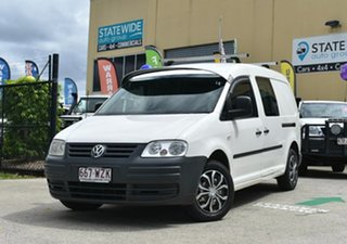 2008 Volkswagen Caddy 2K MY09 Maxi Life White 6 Speed Direct Shift Wagon.