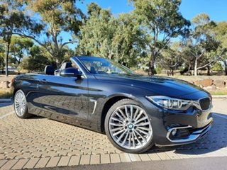 2019 BMW 4 Series F33 LCI 420i Luxury Line Black 8 Speed Sports Automatic Convertible.