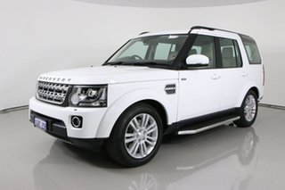 2016 Land Rover Discovery MY16 3.0 SDV6 HSE White 8 Speed Automatic Wagon.