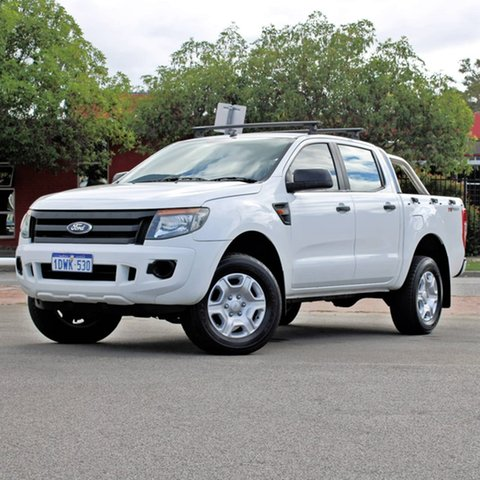 Used Ford Ranger PX XL Hi-Rider Midland, 2012 Ford Ranger PX XL Hi-Rider White 6 Speed Sports Automatic Utility