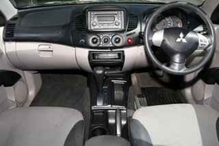 2010 Mitsubishi Triton MN MY10 GLX Double Cab 4x2 Silver 4 Speed Automatic Utility