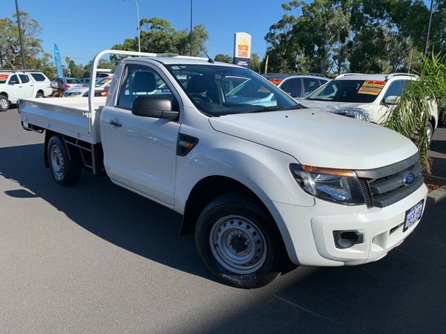 Used Ford Ranger PX XL Bunbury, 2014 Ford Ranger PX XL White 6 Speed Manual Cab Chassis