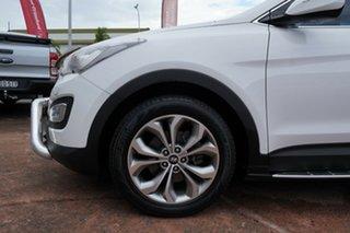 2013 Hyundai Santa Fe DM Highlander CRDi (4x4) White 6 Speed Automatic Wagon.