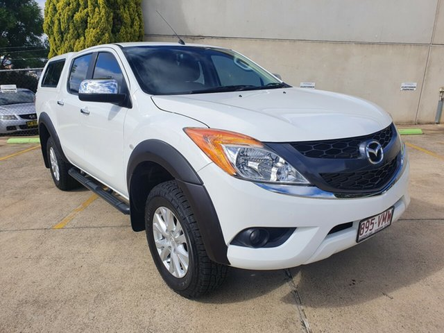 Used Mazda BT-50 UP0YF1 GT Toowoomba, 2014 Mazda BT-50 UP0YF1 GT Cool White 6 Speed Manual Utility