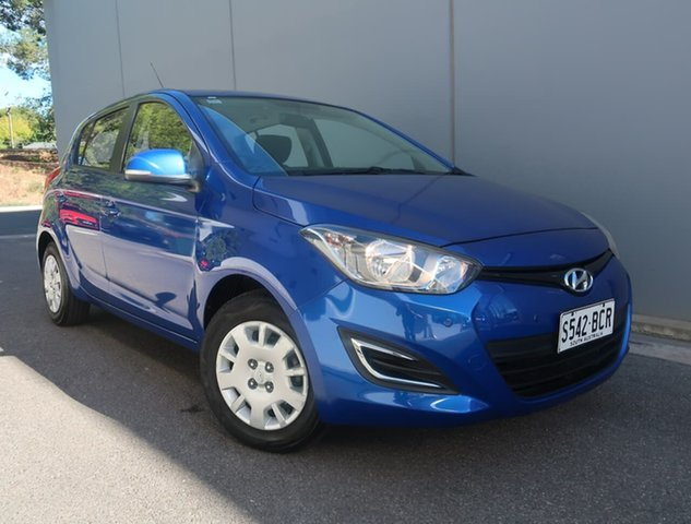 Used Hyundai i20 PB MY15 Active Reynella, 2014 Hyundai i20 PB MY15 Active Blue 4 Speed Automatic Hatchback
