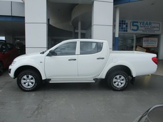 2015 Mitsubishi Triton MN MY15 GLX (4x4) White 5 Speed Manual 4x4 Double Cab Utility.