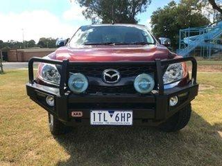 2012 Mazda BT-50 XTR (4x4) Red 6 Speed Manual Dual Cab Utility.