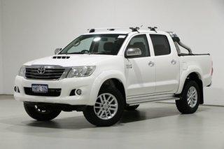 2014 Toyota Hilux KUN26R MY14 SR5 (4x4) White 5 Speed Automatic Dual Cab Pick-up.