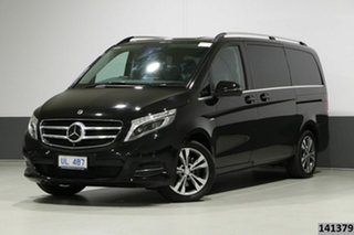 2017 Mercedes-Benz V250d 447 MY17 Avantgarde MWB Obsidian Black Metallic 7 Speed Automatic Wagon.