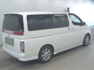 2002 Nissan Elgrand NE51 X White Automatic Wagon