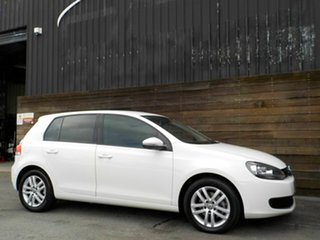 2011 Volkswagen Golf VI MY11 103TDI DSG Comfortline White 6 Speed Sports Automatic Dual Clutch.