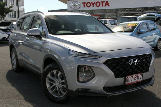 Pre-Owned Hyundai Santa Fe TM MY19 Active Upper Mount Gravatt, 2018 Hyundai Santa Fe TM MY19 Active Silver 8 Speed Sports Automatic Wagon