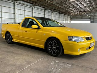 2005 Ford Falcon BA Mk II XR6 Ute Super Cab Yellow 4 Speed Sports Automatic Utility.
