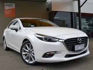 2018 Mazda 3 BN5238 SP25 SKYACTIV-Drive GT White 6 Speed Sports Automatic Sedan.