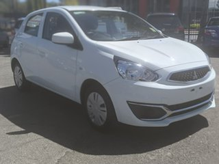 2018 Mitsubishi Mirage LA MY18 ES White 1 Speed Constant Variable Hatchback.