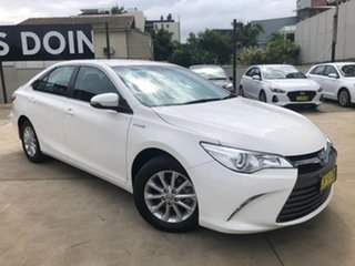2016 Toyota Camry Altise White Constant Variable Sedan.